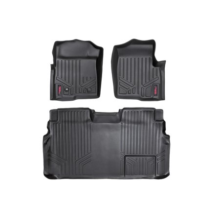 F150 Supercrew Model (Rough Country Heavy Duty Floor Liners (fits) 2009-2010 Ford F150 SuperCrew Front/Rear M-50912 Duty Floor Mats)