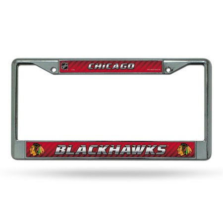 Chicago Blackhawks Nhl Chrome Metal License Plate Frame