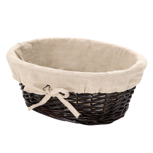 Mainstays Small Dark Willow Basket, Dark Brown
