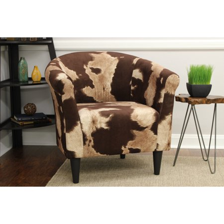 Mainstays Marlee Animal Printed Bucket Accent Chair Walmartcom