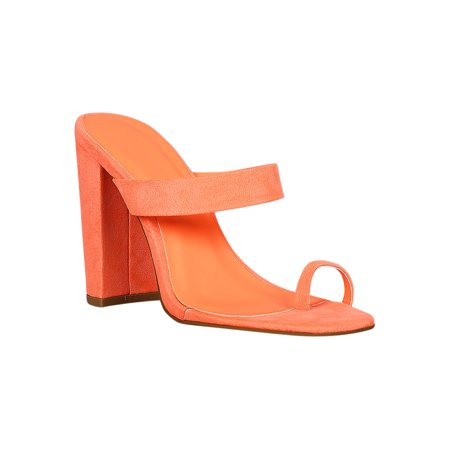 574bd2bc969e8 Qupid - Women Faux Suede Single Band Toe Ring Chunky Mule Heel 18247 -  Walmart.com