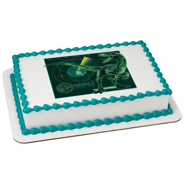 Jurassic World 2 Tracker 1/4 Sheet Image Cake Topper Edible Birthday Party