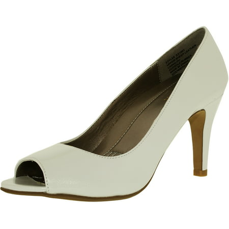 Easy Spirit Women's Peep Toe Pump White Le Ankle-High - 7.5M