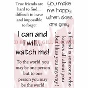 """Woodware Clear Stamps 3.5""""X5.5""""-True Friend"""
