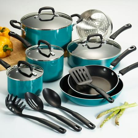 Tramontina Select Non-Stick Teal Cookware Set, 15 Piece