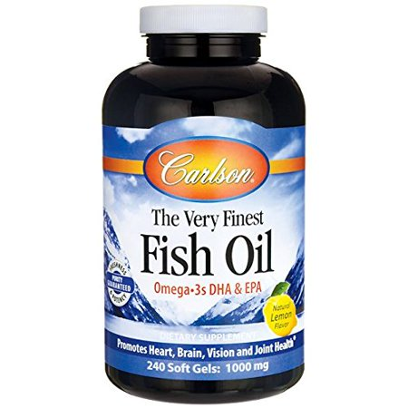 Carlson labs very finest fish oil lemon 1000mg 240 for Carlson labs fish oil