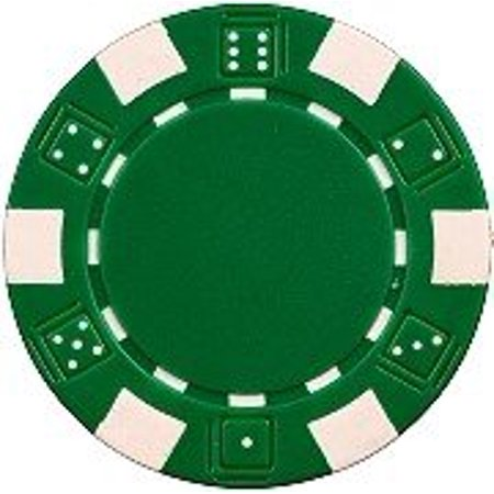 Like Clay Chips (25 Clay Composite Dice Striped 11.5 gram Poker Chips, Green, Green Chips By Las Vegas Poker Chips )