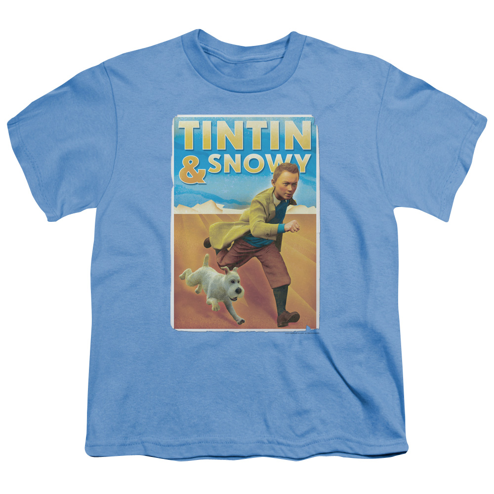 Tintin/Tintin & Snowy   S/S Youth 18/1   Carolina Blue     Par178