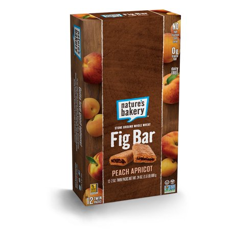 Nature's Bakery Whole Wheat Fig Bar, Peach Apricot, 2oz (Pack of 12) (Fresh Fig Apricot)
