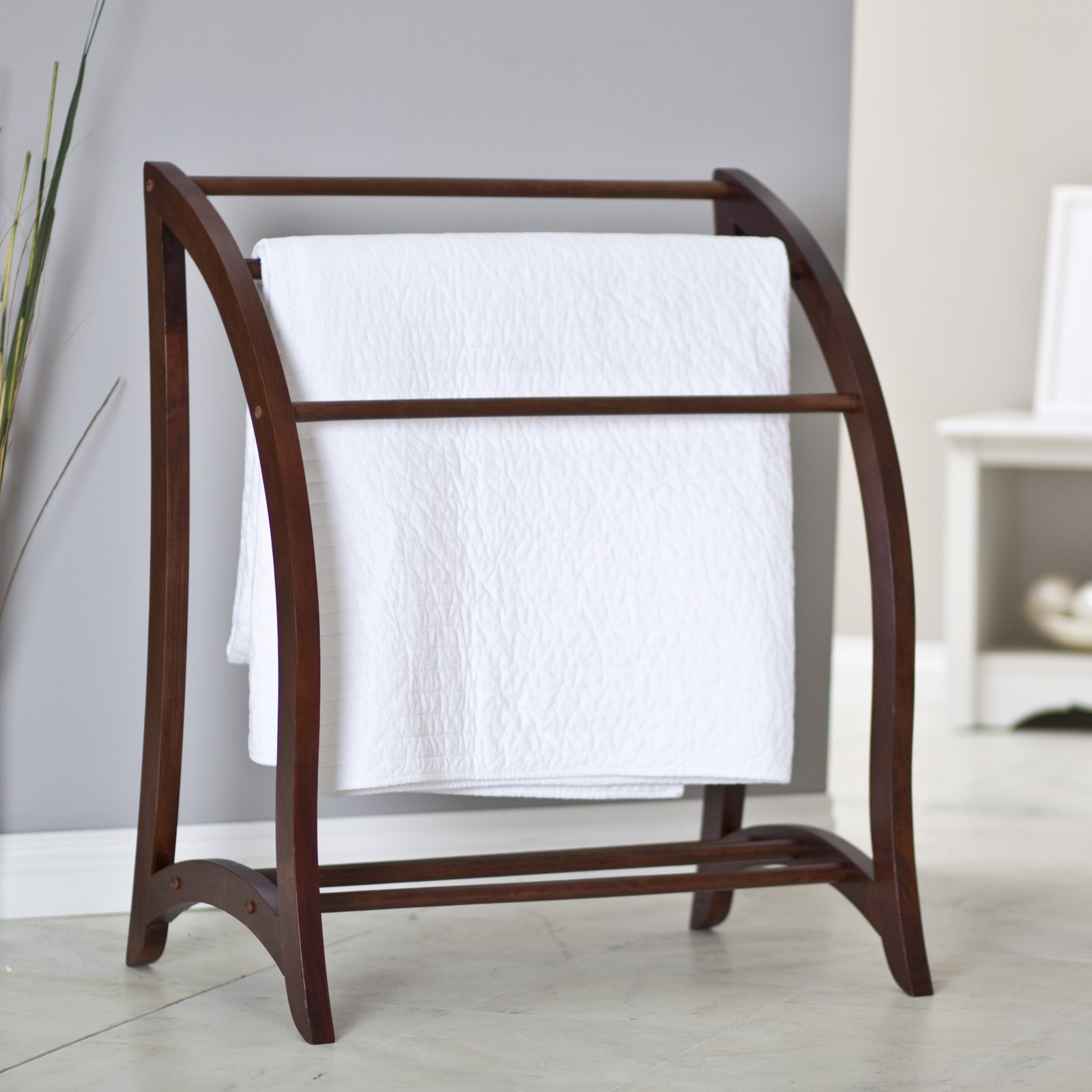 3 Rack Blanket/Towel Holder, Walnut