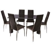 7-Pc Dining Set in Black