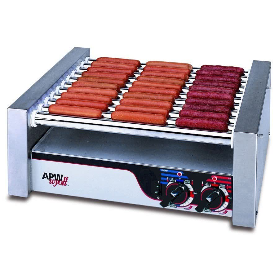 "Wyott HRS-20 Non-Stick Hot Dog Roller Grill 13""W - Flat Top 120V by TableTop king"