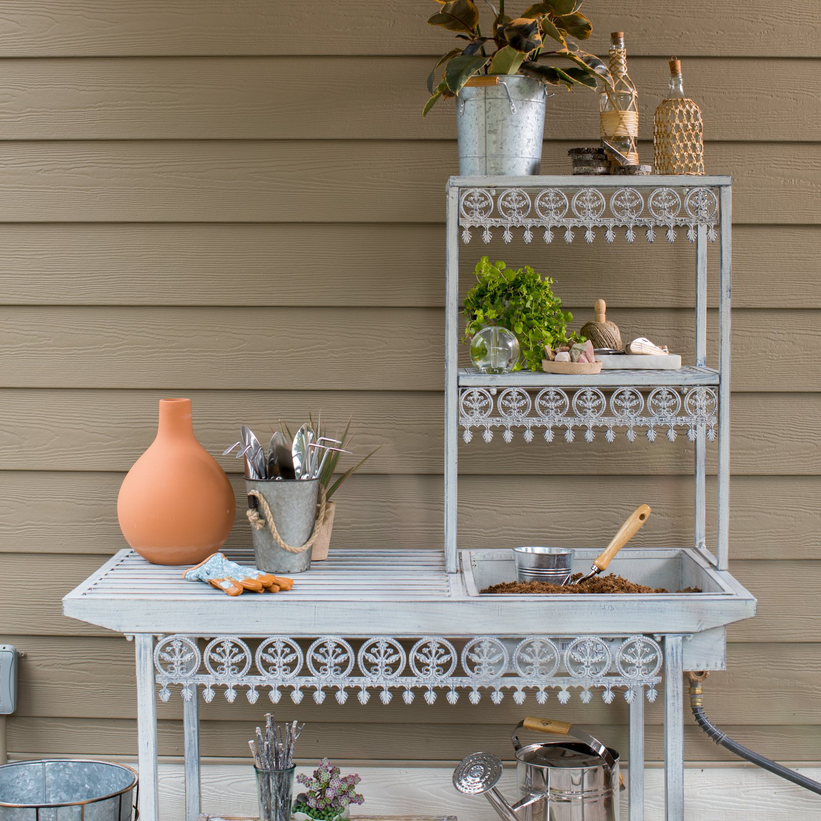Marvelous Belham Living Garden Grove Metal Potting Bench Pdpeps Interior Chair Design Pdpepsorg