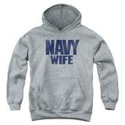 US Navy Wife Big Boys Pullover Hoodie