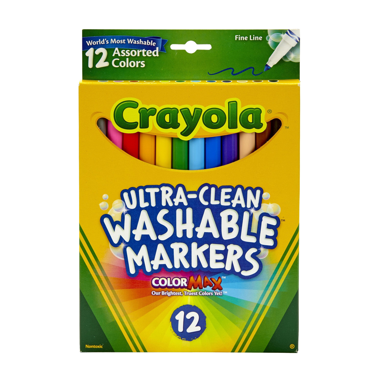 Crayola Washable Marker Set, 12-Colors, Fine