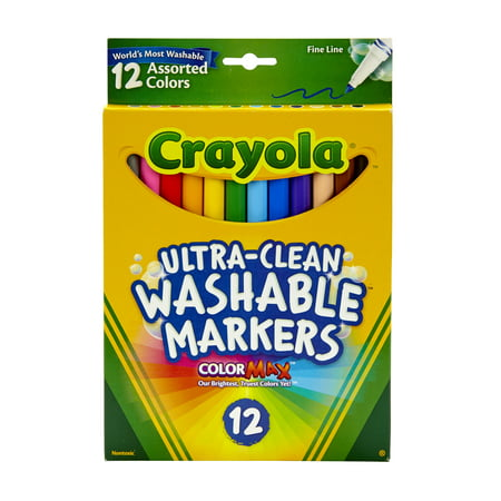 Crayola Washable Marker Set, 12-Colors, Fine