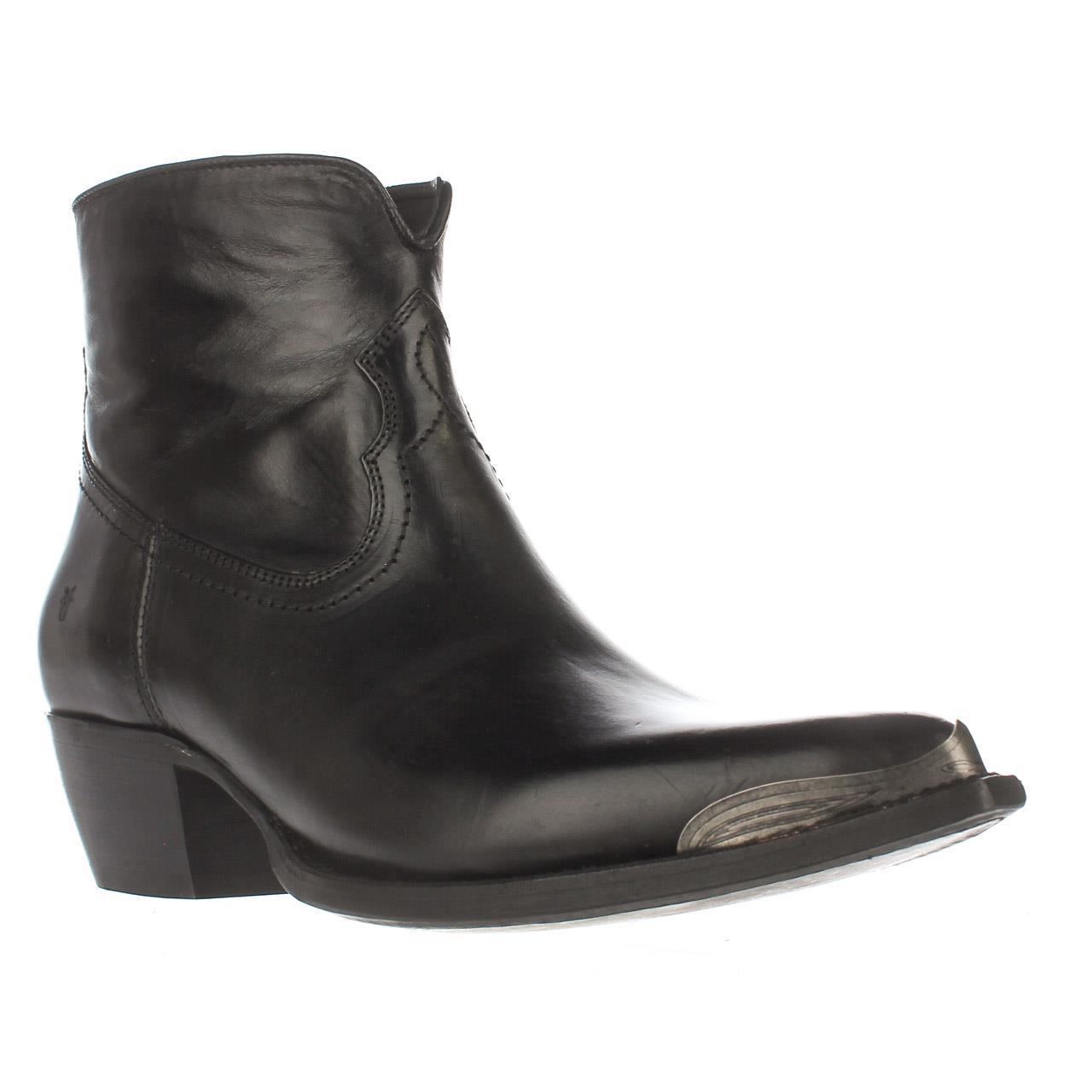 Womens FRYE Shane Tip Short Western Boots - Black