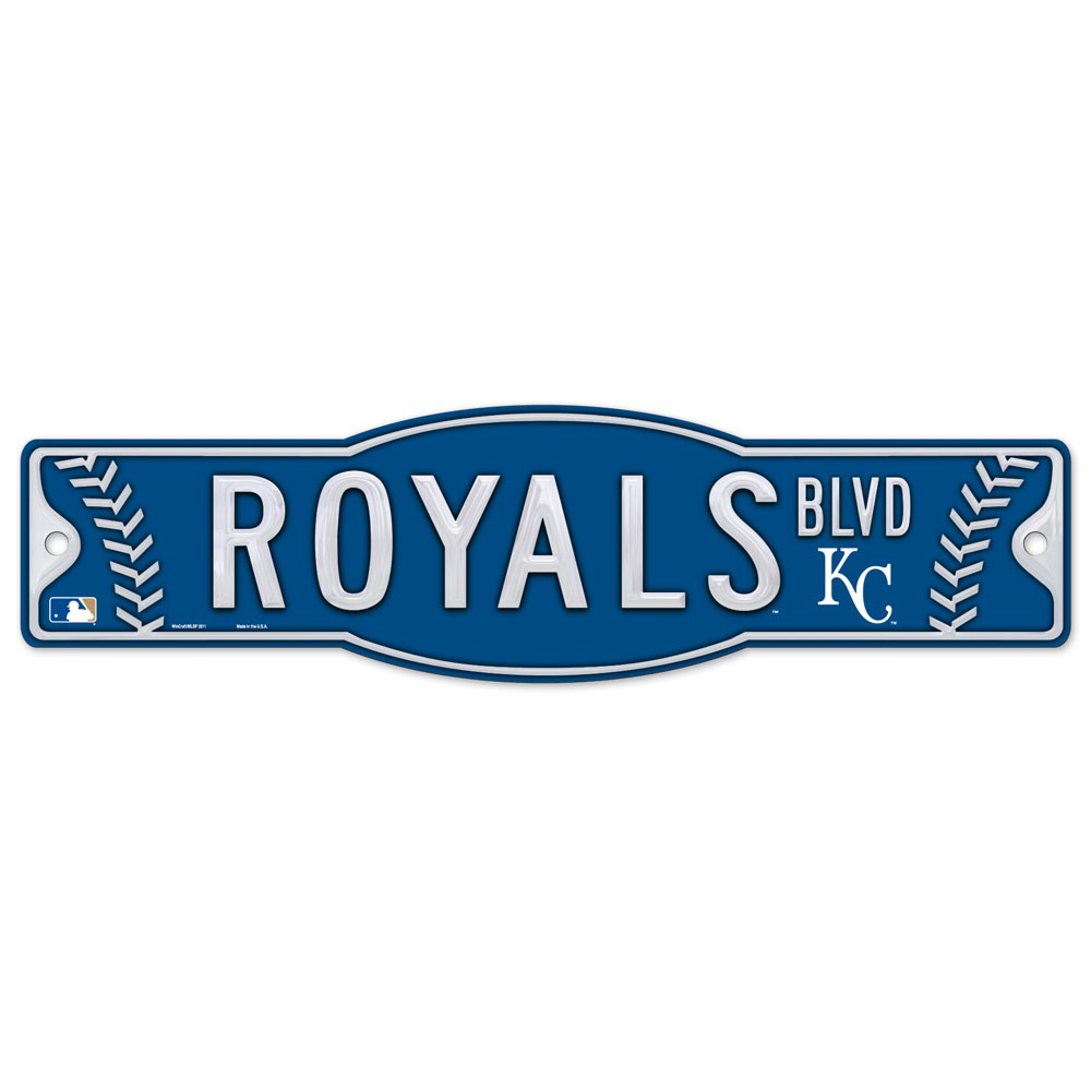 Kansas City Royals Official MLB 4 inch x 17 inch  Plastic Street Sign by Wincraft