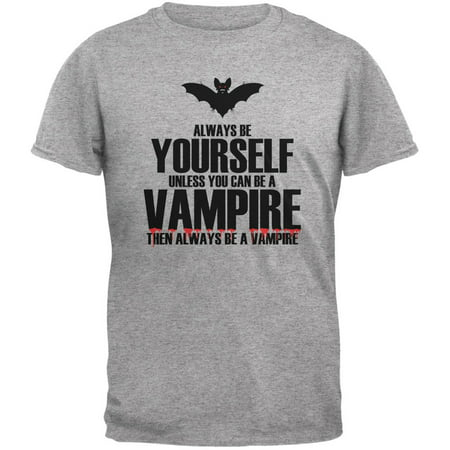 Halloween Always Be Yourself Vampire Heather Grey Youth T-Shirt (Halloween Shoes)