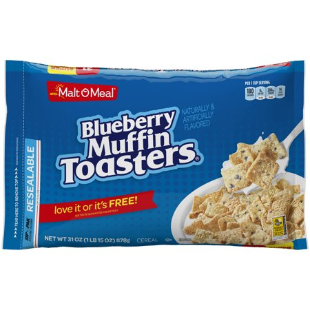 Malt-o-meal Cereal, Blueberry Toasters, 30 Oz Bag Malt-o-meal Cereal, Blueberry Toasters, 30 Oz Bag