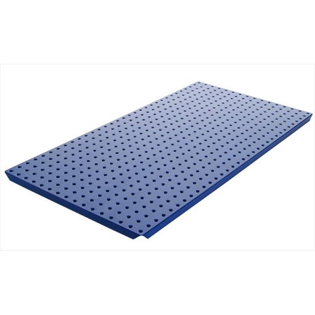 Alligator Board ALGBRD16x32PTD-BLU Blue Powder Coated Metal Pegboard Panels with Flange - Pack of 2