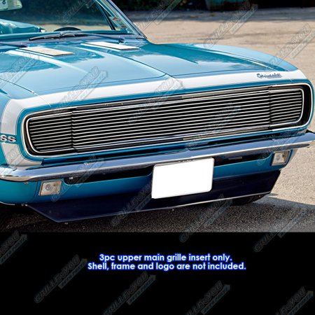 Compatible with 1967-1968 Chevy Camaro RS Model Billet Grille Grill Insert C85252A (Chevy Camaro Billet Grille)