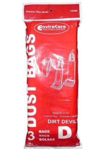 3pk Dirt Devil Vacuum Bag Type D Featherlite Lite Plus Sensation 3670147001 NEW!