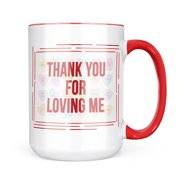 Christmas Cookie Tin Thank You For Loving Me Valentine's Day Candy Hearts Mug gift for Coffee Tea lovers