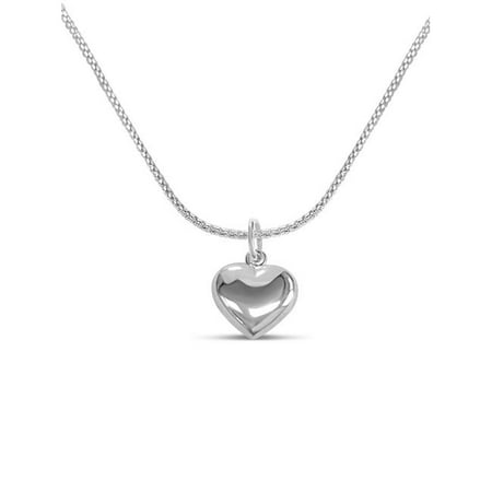 Fronay 51137 16 in. Miniature Silver Heart Necklace with Superflex Chain - image 1 de 1