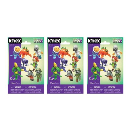 Plants vs Zombies Mystery Figures 3-Pack Series 6 GW2 Blind Bags K'NEX - Figure 8 Blind