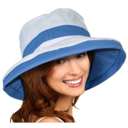 Sun Blocker Womens Sun Hat Reversible Bucket Cap Upf 50  Outdoor Travel Beach Hat