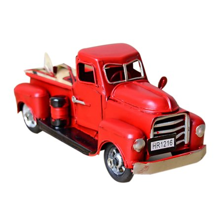 Cheap Gifts For Christmas (snorda Vintage Red Metal Truck Christmas Ornament Kids Xmas Gifts Toy Table Top)