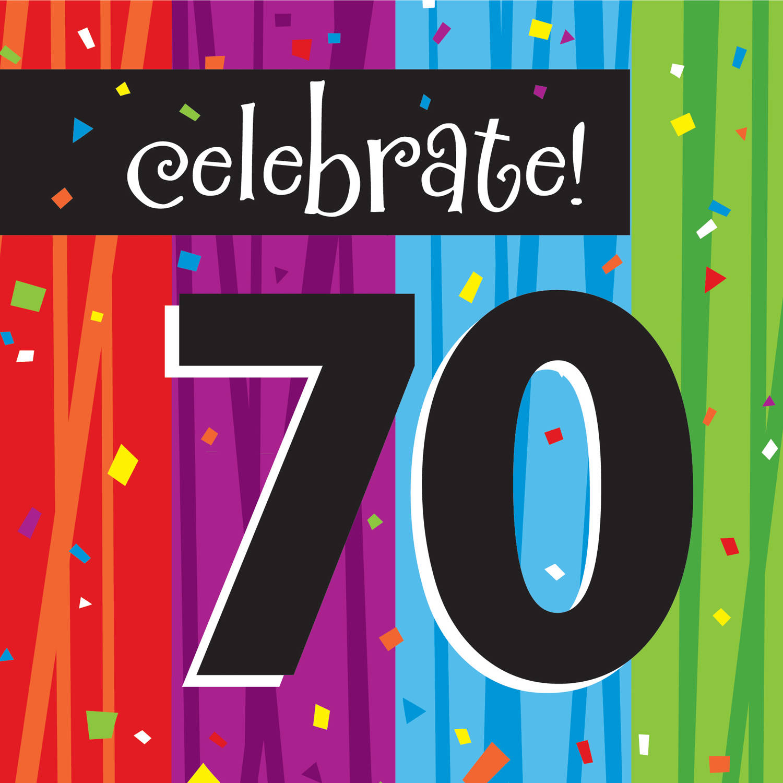 Milestone Celebrations 70th Birthday Napkins, 16pk