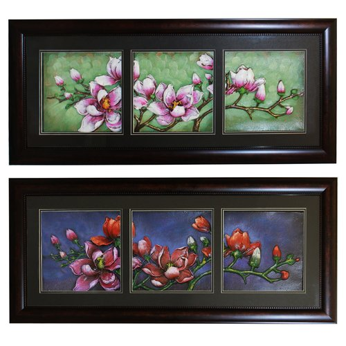 EC World Imports Urban Designs Morning Midnight Flowers 2 Piece Framed Graphic Art Set by ecWorld