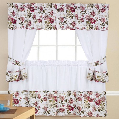 Sweet Home Collection 5 Piece Kitchen Curtain Set ...