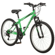 Roadmaster Granite Peak Mountain Bike, 24-inch wheels, Boys style, Green