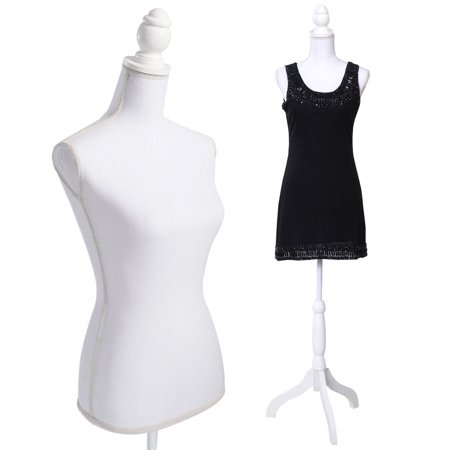 Costway White Female Mannequin Torso Dress Form Display W/ Tripod - Cosplay Female Characters
