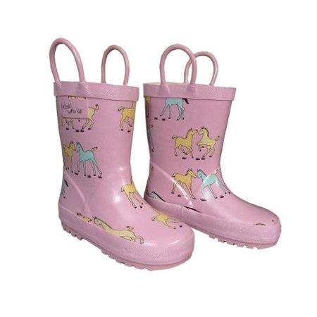 Pink Pony Girls Rain Boots 11-3