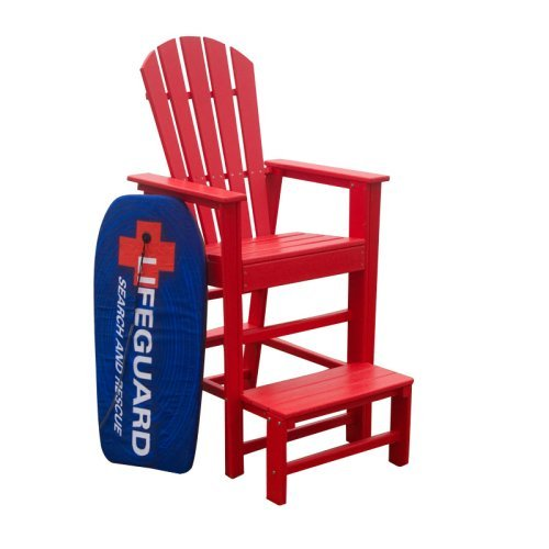 Polywood 174 South Beach Recycled Plastic Life Guard Chair