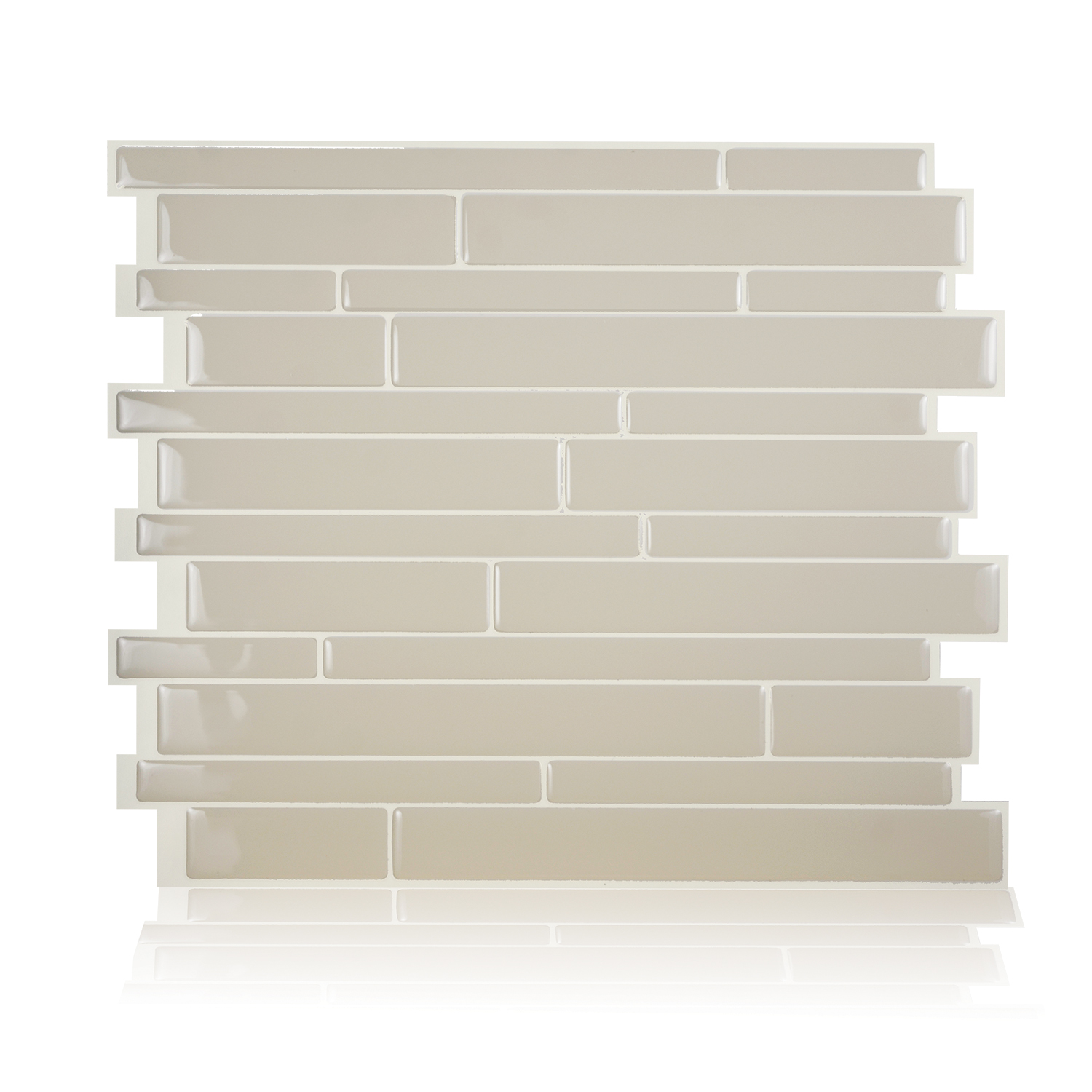 Smart Tiles 11.55 in x 9.63 in Peel and Stick Self-Adhesive Mosaic Backsplash Wall Tile - Milano Crema (each)