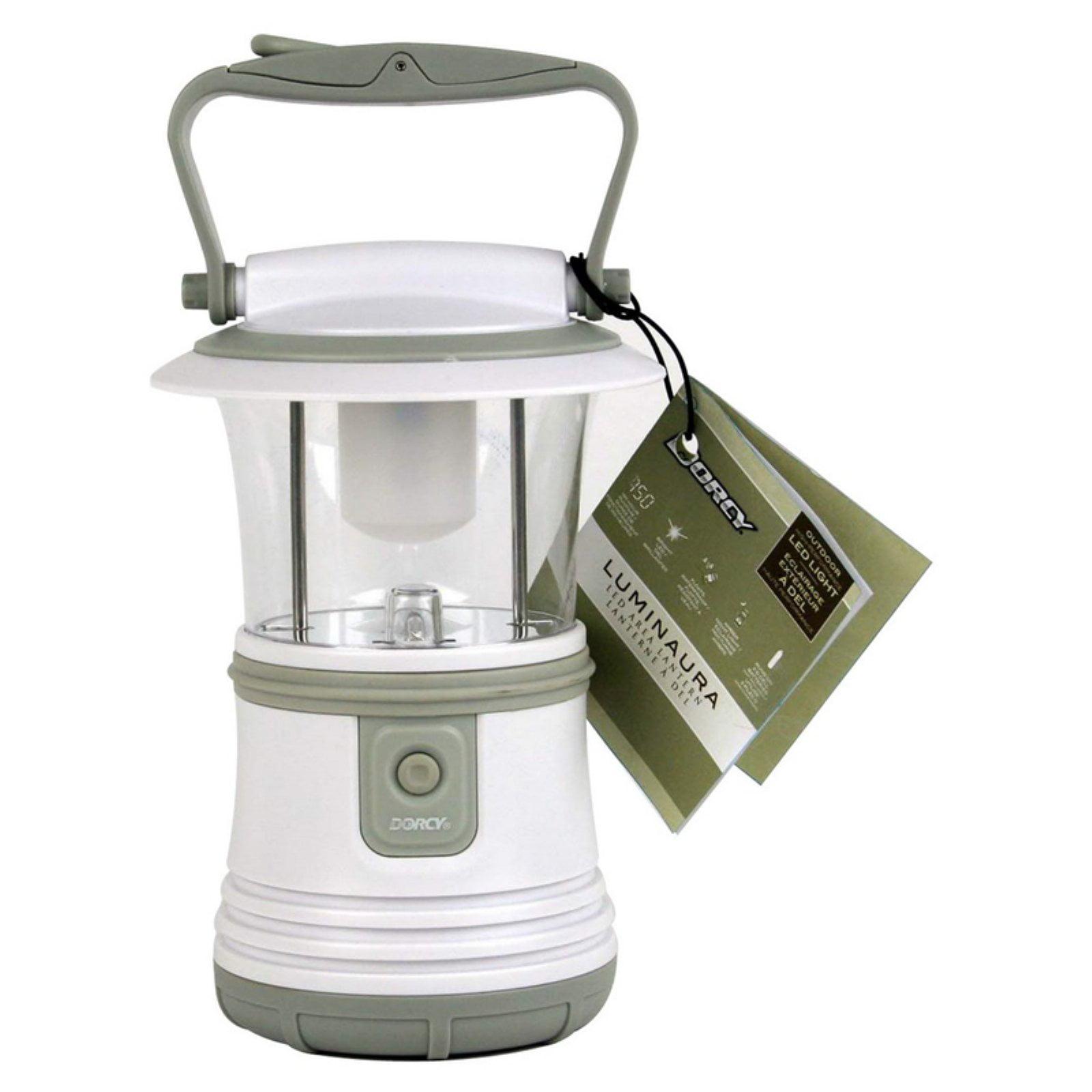 Dorcy 41-3104 LED Camping Flashlight Lantern with Hanging Hook, 65-Lumens, White Finish