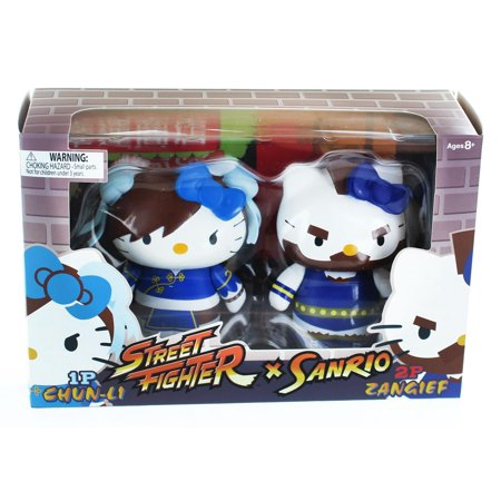 Hello Kitty Street Fighter 2 Figure Pack ChunLi & Zangief - Hello Kitty Halloween Figures