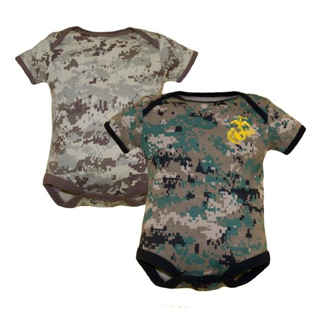 U S M C  Woodland Camo And Desert Camo 2 Pk Baby Bodysuits 9 12M
