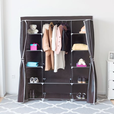 60 Quot Portable Clothes Closet Non Woven Fabric Wardrobe
