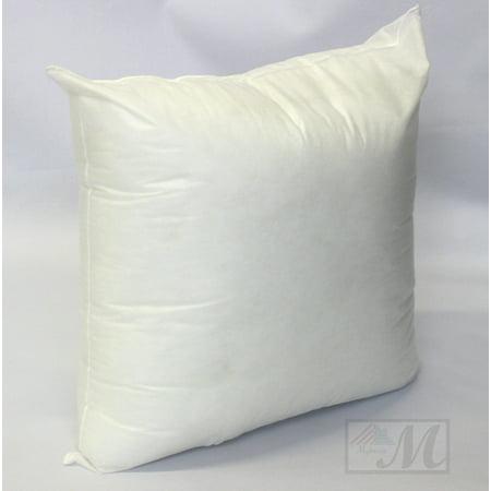 mybecca 18 l x 18 w pillow sham stuffer white square hypoallergenic pillow insert first. Black Bedroom Furniture Sets. Home Design Ideas