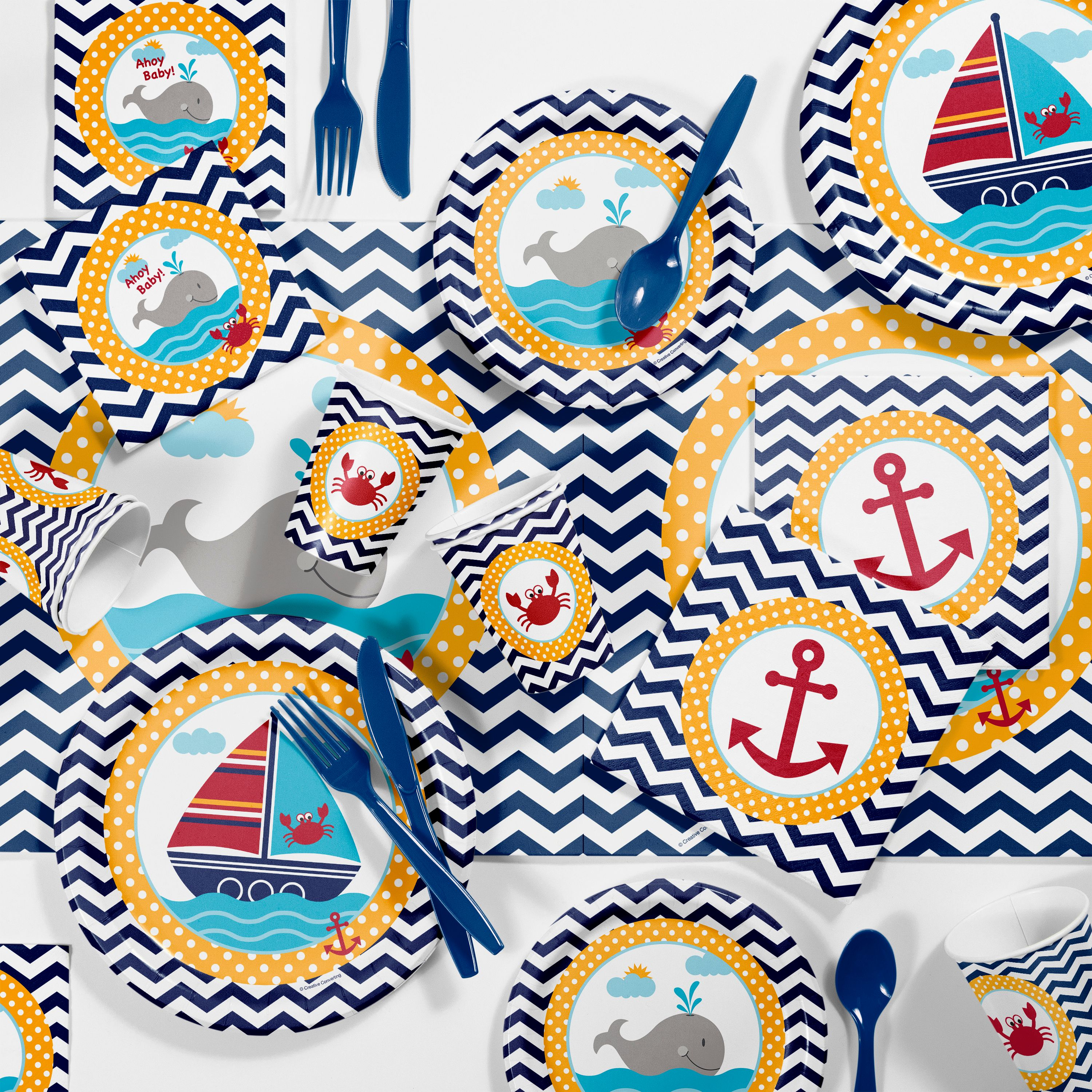 Ahoy Matey Nautical Baby Shower Kit