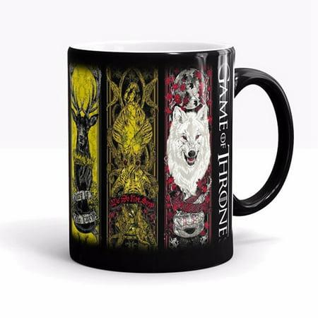 Mug Heat Sensitive Color Changing Coffee Tea Mug Ceramic Mug-Game of Thrones for Ghost (Coffee Mug Color Changing)