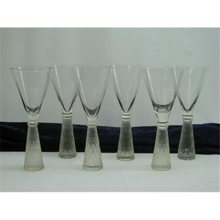 Three Star YJ12605 Frosted Decorated Base Martini/ Wine Glass - Set of 6 - Halloween Decorated Wine Glasses