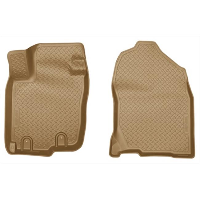 Classic Style Series Thermoplastic Elastomer Tan Front Floor Liners