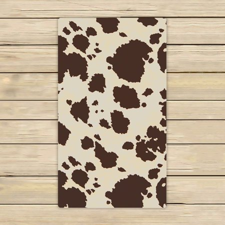 GCKG Vintage Big Cow Bull Fur Animal Hand Towel,Spa Towel,Beach Bath Towels,Bathroom Body Shower Towel Bath Wrap Size 16x28 inches